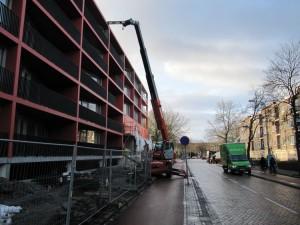 2 km balkon railing plaatsen stad groningen bij de korrezoom