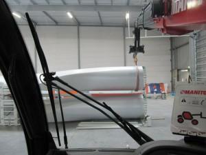 windturbine wieken transport klaar maken voor italie in eemshaven samen met collega Bultena (2)